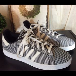 Adidas Mens Campus Black&White Woven  Sneaker